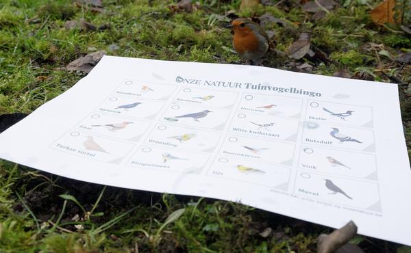 3. Speel de Onze Natuur vogelbingo