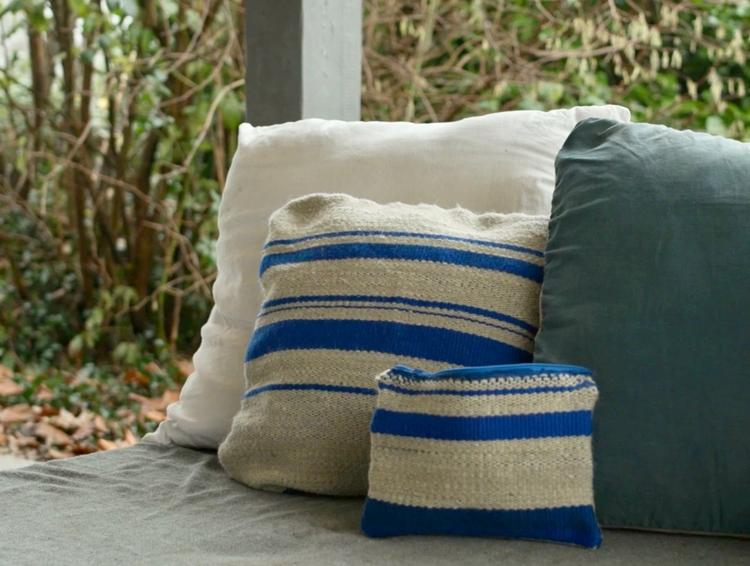 Schapenwollen kussens met wol van het Kempisch Heideschaap