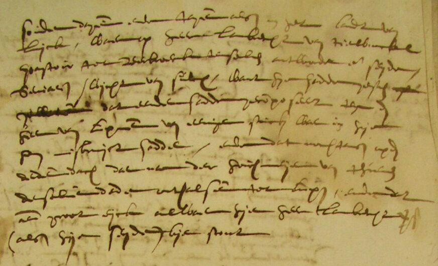 Geschrift uit 1609 (Rijksarchief Hasselt, foto Ria Lemmens)