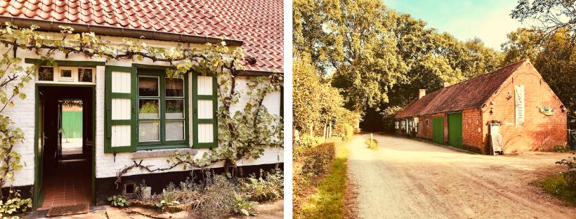 Links: bezoekerscentrum, rechts: 't Boshuisje