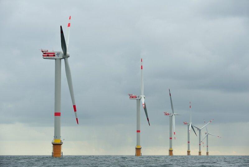 Windmolenpark op de Thorntonbank in Oostende